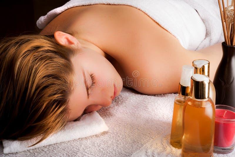 Esperando a massagem fotos de stock