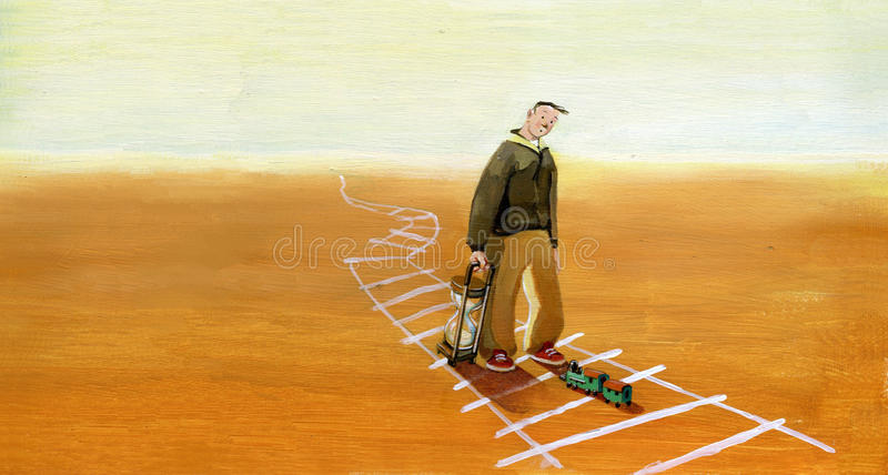 Esperando o futuro ilustração do vetor