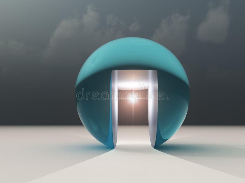 Esperanza abstracta de la oportunidad libre illustration