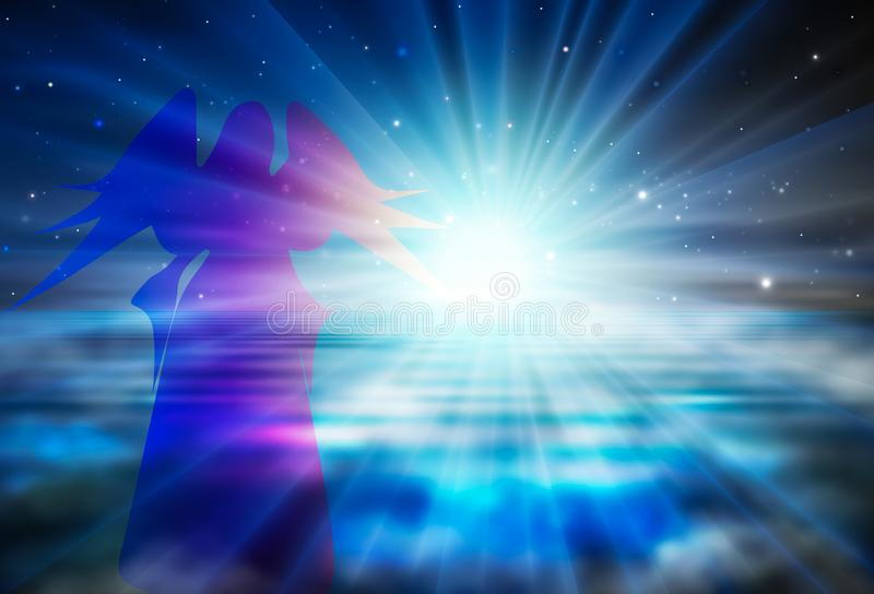 Esperanza, confianza, fe en concepto espiritual del renacimiento de dios libre illustration