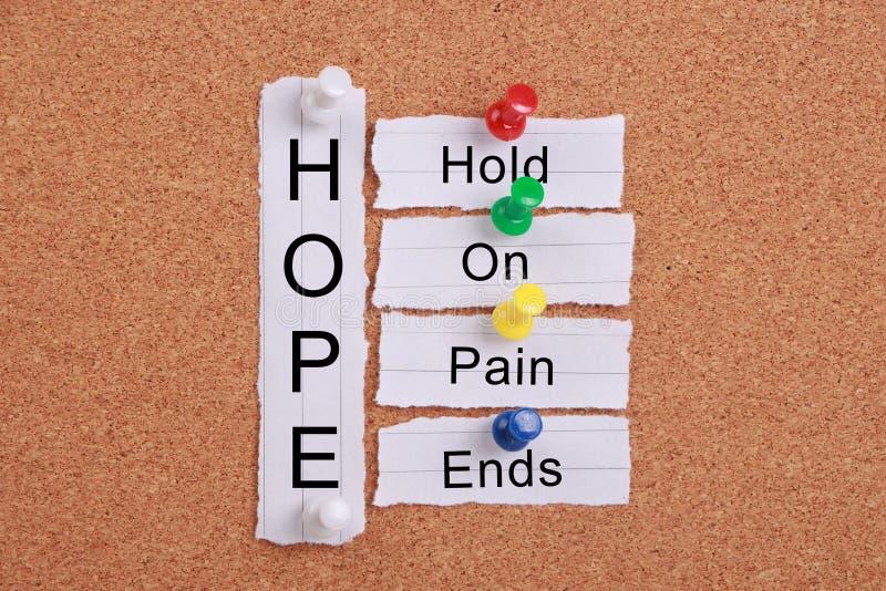 Esperanza (control encendido, extremos del dolor) fotos de archivo
