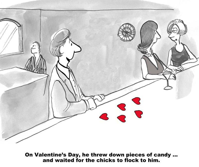 Esperanzado el día de tarjeta del día de San Valentín stock de ilustración