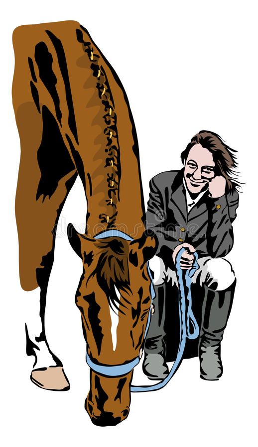 Download Esperar El Comienzo Del Torneo Ilustración del Vector - Ilustración de yegua, mamífero: 44854061