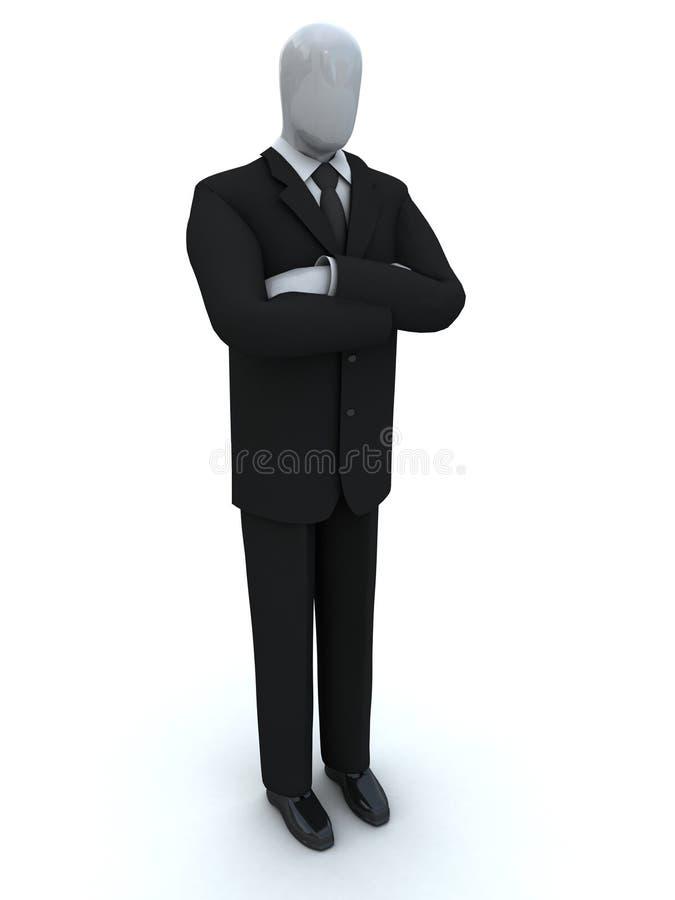 Esperas do homem de negócios, combinando as mãos imagem de stock