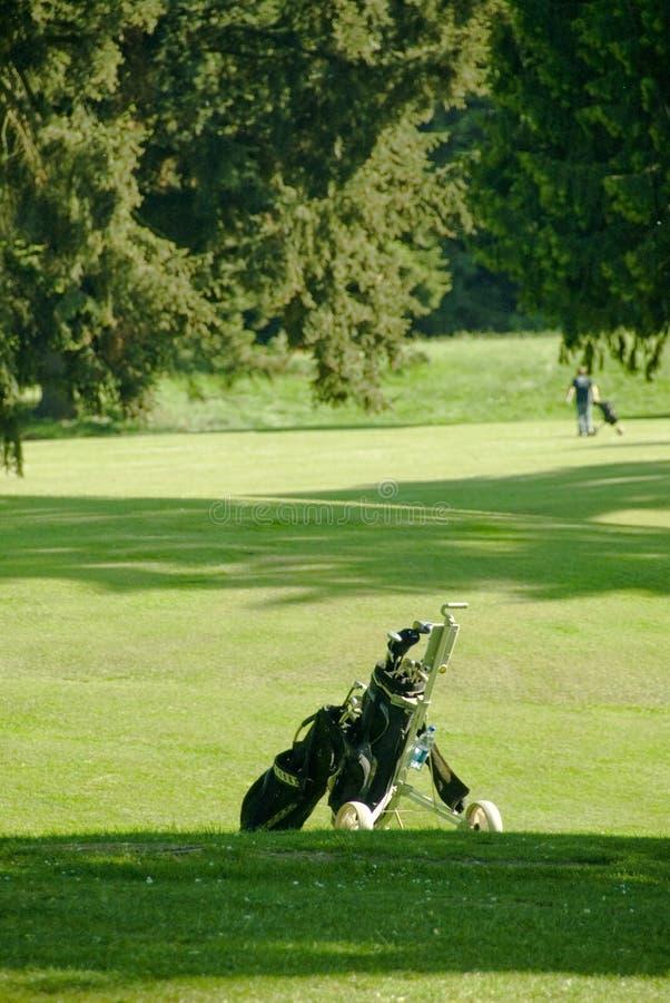 Esperas do saco de golfe imagens de stock royalty free