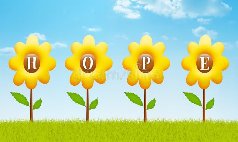 Espere las primaveras eternas ilustración del vector