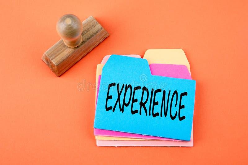 Esperienza, concetto di affari fotografia stock