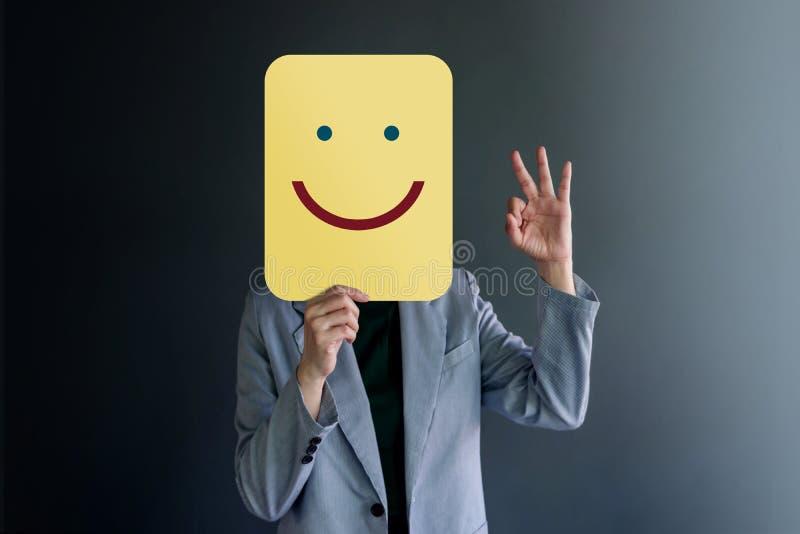 Esperienza del cliente o concetto emozionale umano  immagine stock libera da diritti
