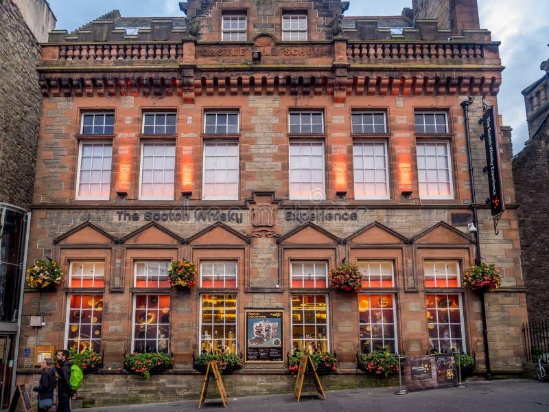Esperienza del whiskey scozzese, miglio reale, Edimburgo Scozia fotografia stock