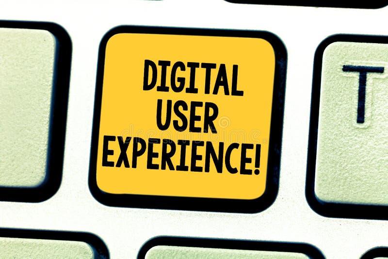Esperienza utente di Digital del testo di scrittura di parola Il concetto di affari per la dimostrazione della s è emozioni circa immagine stock