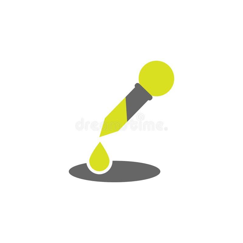 Esperimento, icona del eyedropper Elemento dell'icona di esperimento di scienza per i apps mobili di web e di concetto Esperiment royalty illustrazione gratis
