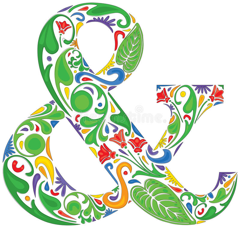 Esperluète colorée illustration de vecteur