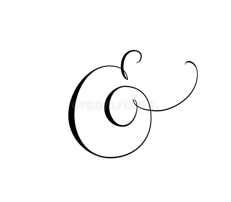 Esperluète décorative faite sur commande d'isolement sur le blanc Grand pour épouser des invitations, cartes, bannières, recouvre illustration stock