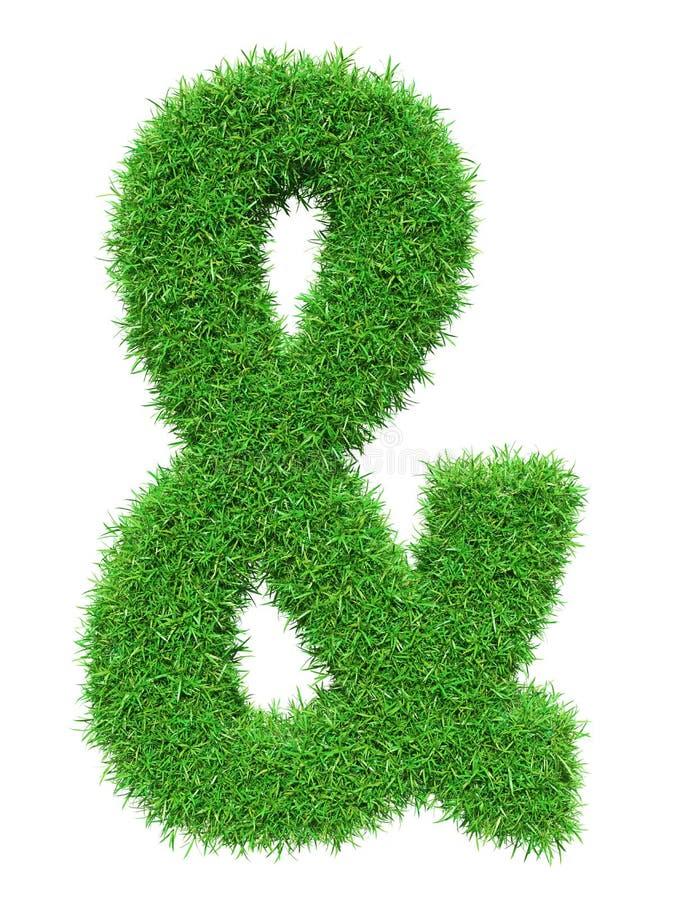 Esperluète d'herbe verte illustration de vecteur