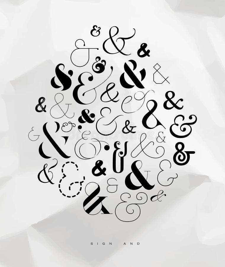 Esperluète de symbole d'affiche illustration libre de droits