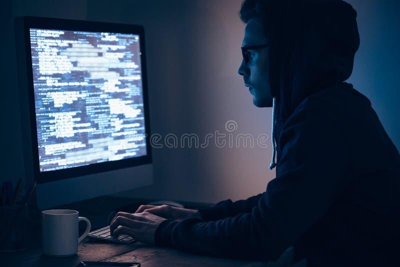 Espião do computador imagens de stock royalty free
