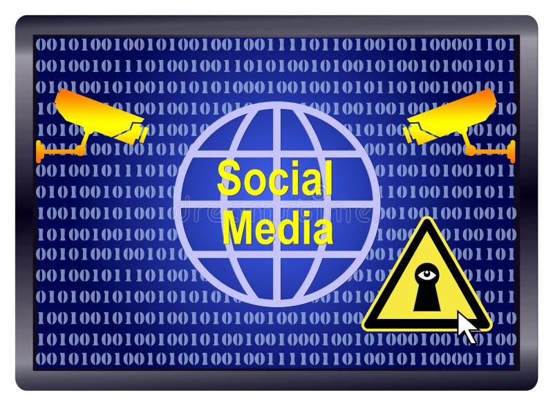 Espião social dos meios ilustração royalty free
