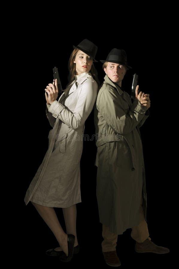 Espiões do homem e da mulher fotografia de stock