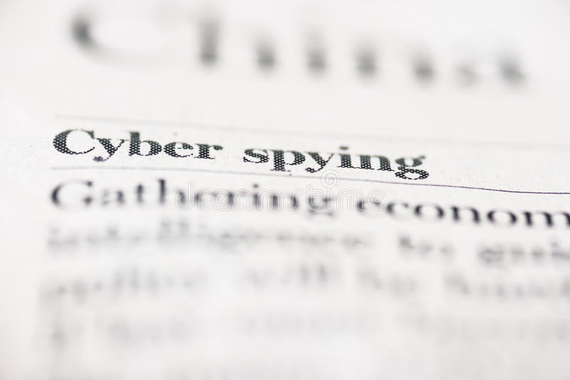 Espiar do Cyber foto de stock royalty free