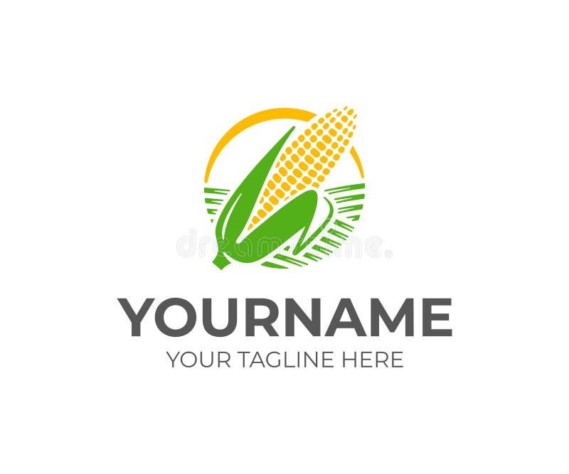 Espiga de diseño del logotipo del trigo Diseño del vector de la cosecha del maíz ilustración del vector