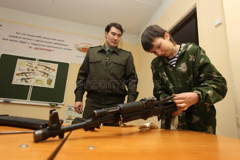 Espingarda de assalto do Kalashnikov fotos de stock