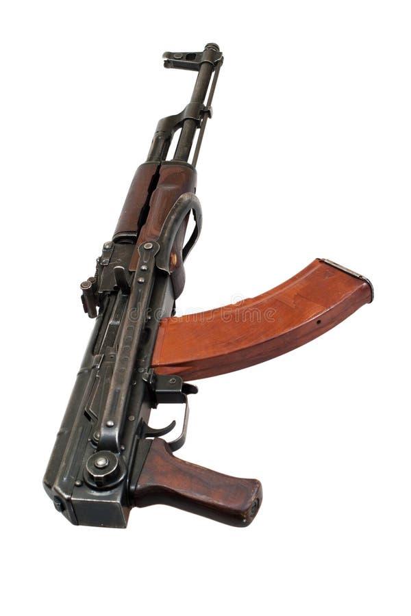 Espingarda de assalto do Kalashnikov no branco imagens de stock