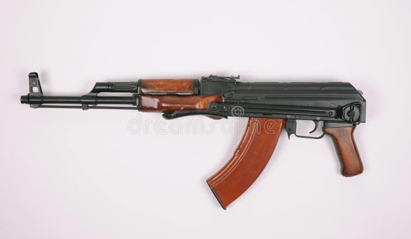 Espingarda de assalto do russo AKMS (AK47) foto de stock