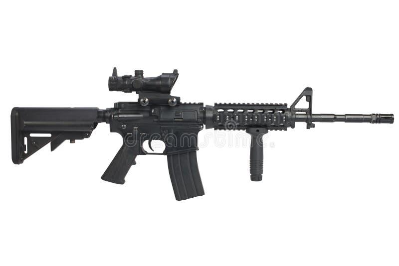 Espingarda de assalto M4 isolada foto de stock