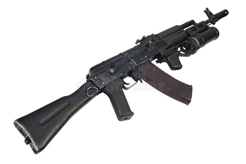 espingarda de assalto moderna do Kalashnikov AK 74M com lançador de granadas do underbarrel imagem de stock