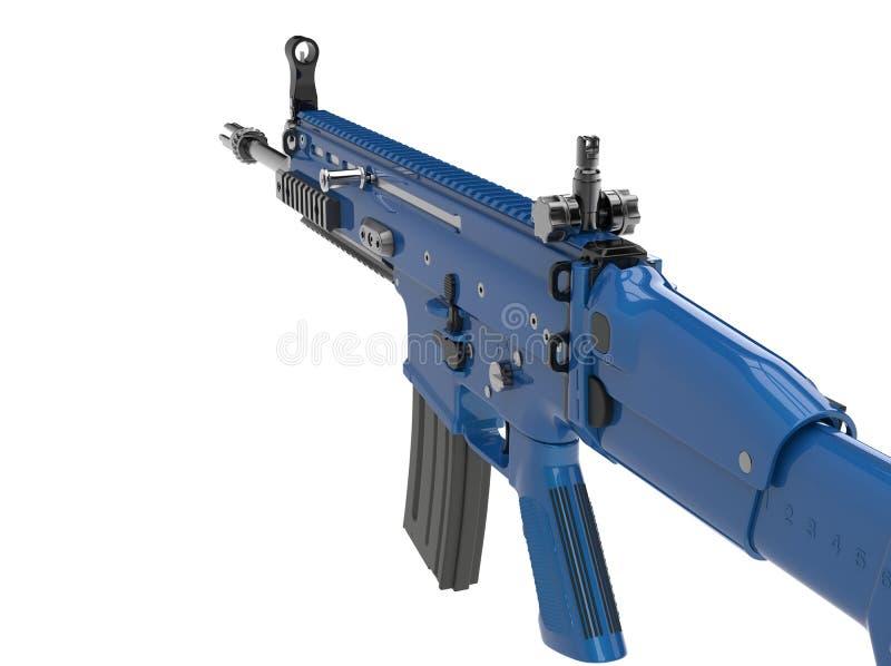 Espingarda de assalto moderna dos azuis marinhos metálicos ilustração stock