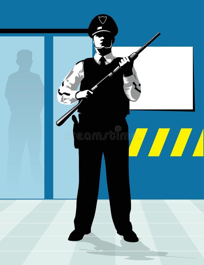 Espingarda do protetor de segurança ilustração do vetor