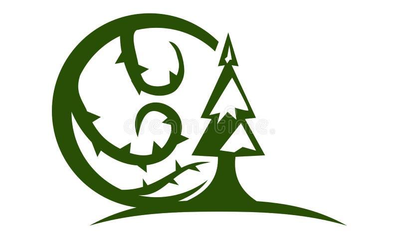 Espinho da árvore da montanha ilustração royalty free