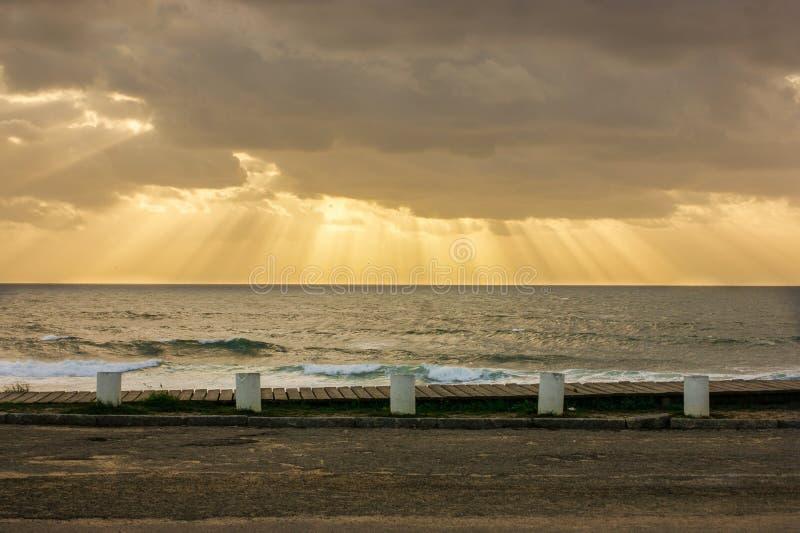 Espinho Portogallo della spiaggia fotografia stock