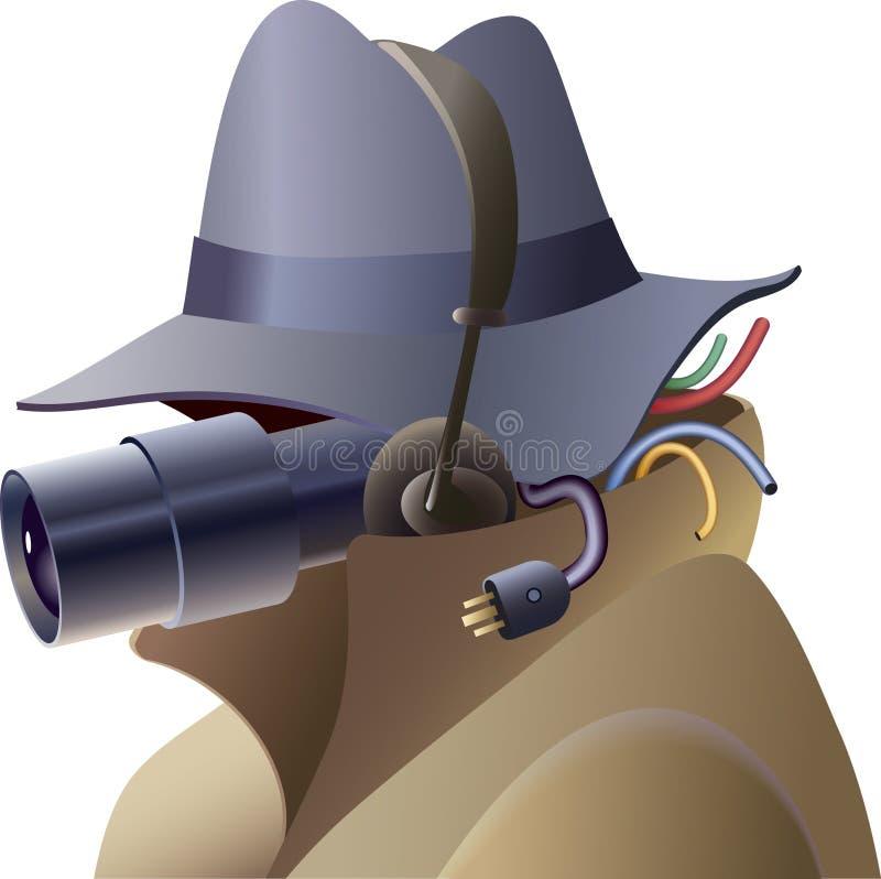 Espion illustration libre de droits