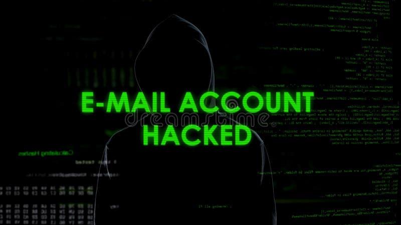Espion incognito entaillant les comptes d'email, cyberattack sur l'intimité, envoyant le Spam photos stock