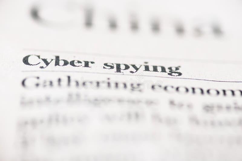 Espionaje cibernético foto de archivo libre de regalías