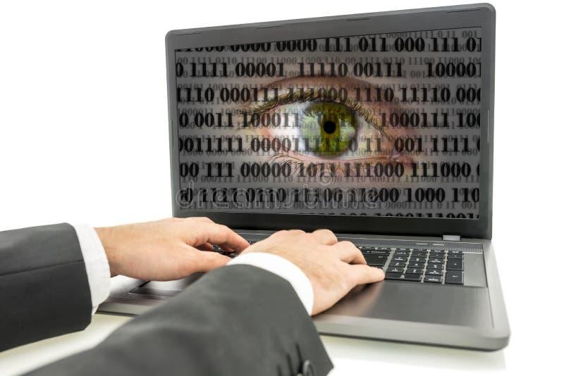 Espionaje de Internet foto de archivo libre de regalías