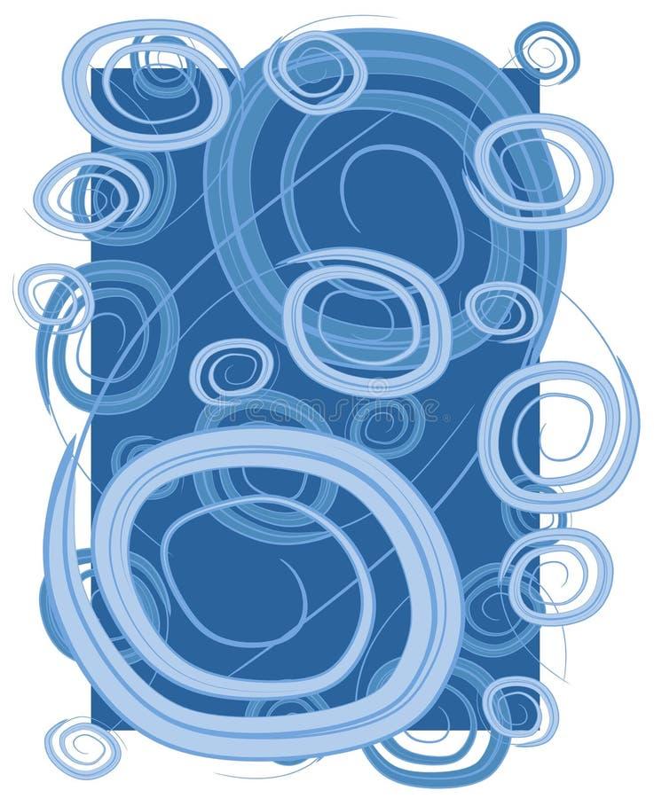 Espirais dos círculos dos redemoinhos azuis ilustração stock