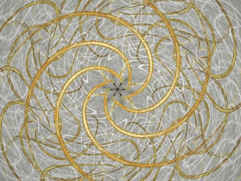 Espirais douradas ilustração royalty free