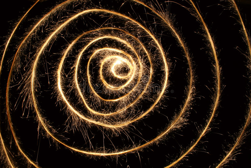 Espiral 2 del Sparkler fotos de archivo libres de regalías