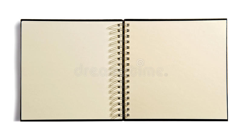 Espiral aberta - livro encadernado da agenda imagens de stock royalty free