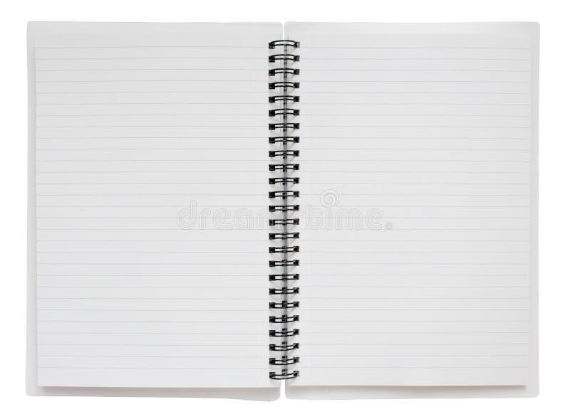 Espiral abierto - ingenio encuadernado del cuaderno fotos de archivo libres de regalías