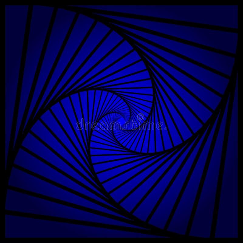Espiral abstracto, efectos del vórtice con las formas concéntricas mezcladas hacia adentro Diseño gráfico Ilustración del vector stock de ilustración