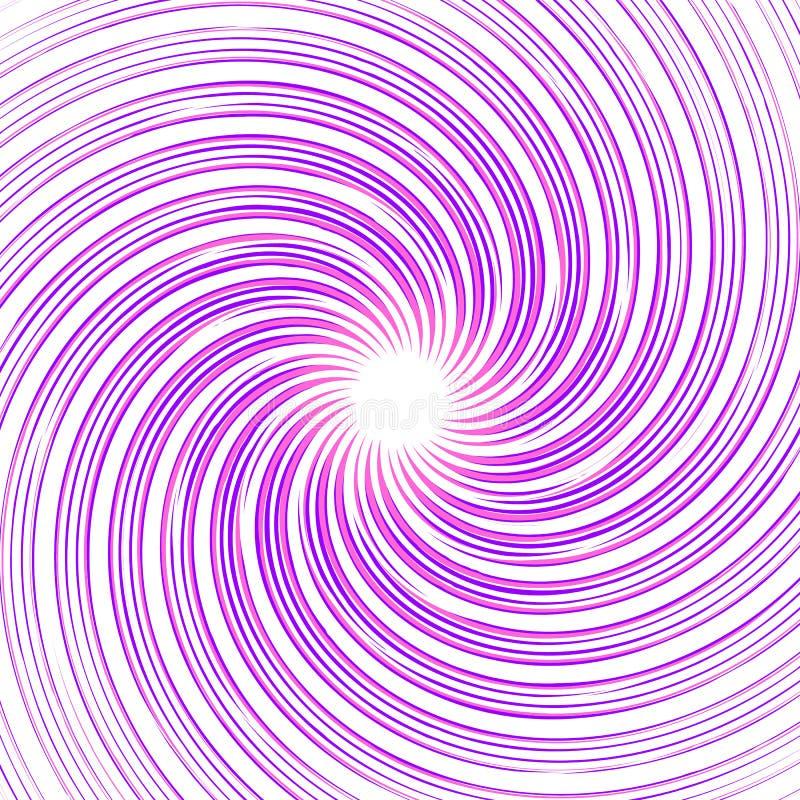 Espiral abstracto monocromático colorido, fondo del remolino tuerza ilustración del vector