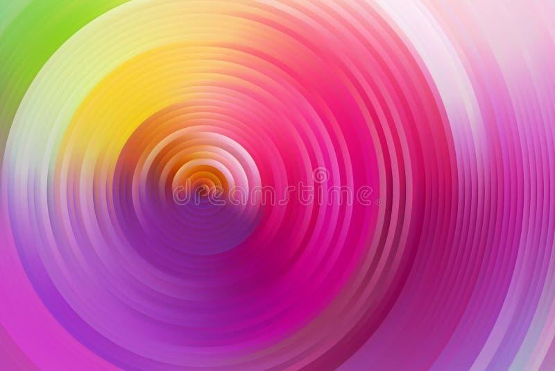 Espiral abstrata do arco-íris, fundo colorido ilustração do vetor