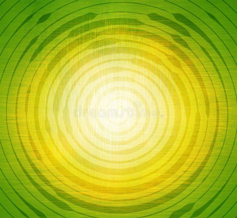 Espiral abstrata no fundo verde e amarelo Molde para o projeto foto de stock