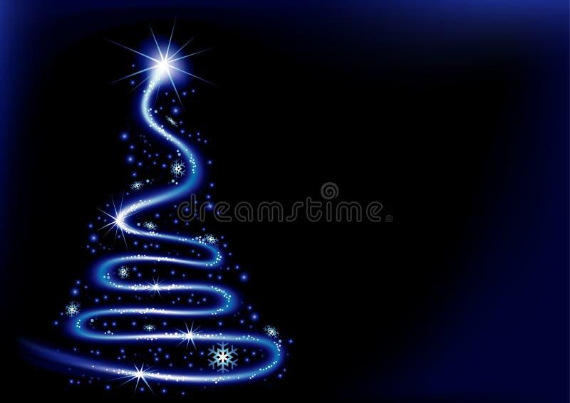 Espiral azul do Natal ilustração stock