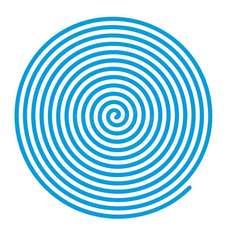 Espiral azul do vetor ilustração royalty free
