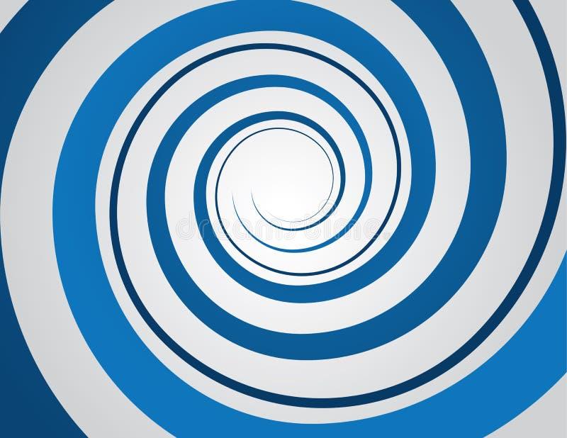 Azul espiral ilustração do vetor