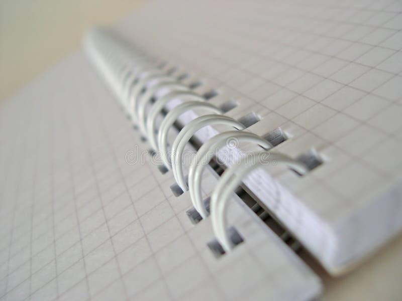 Espiral - bloco de notas encadernado foto de stock